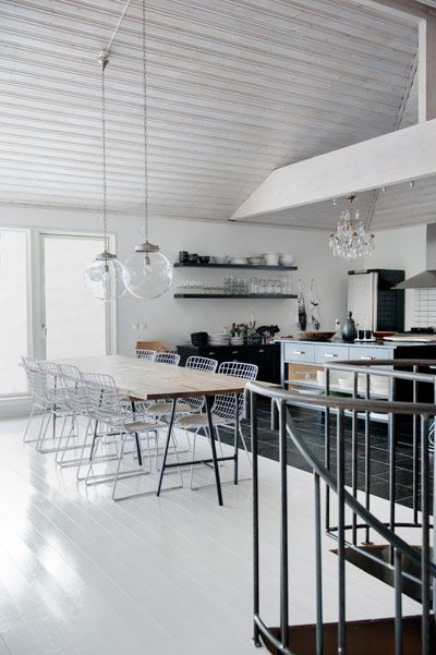 // modern kitchen + dining