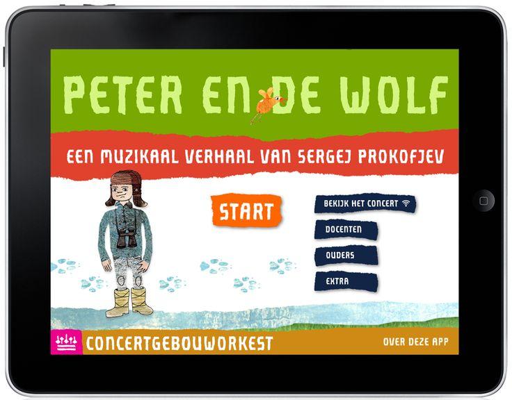 Peter en de wolf is een educatieve app van het Koninklijk Concertgebouworkest. Gemaakt in samenwerking met Uitgeverij Follow a Muse.