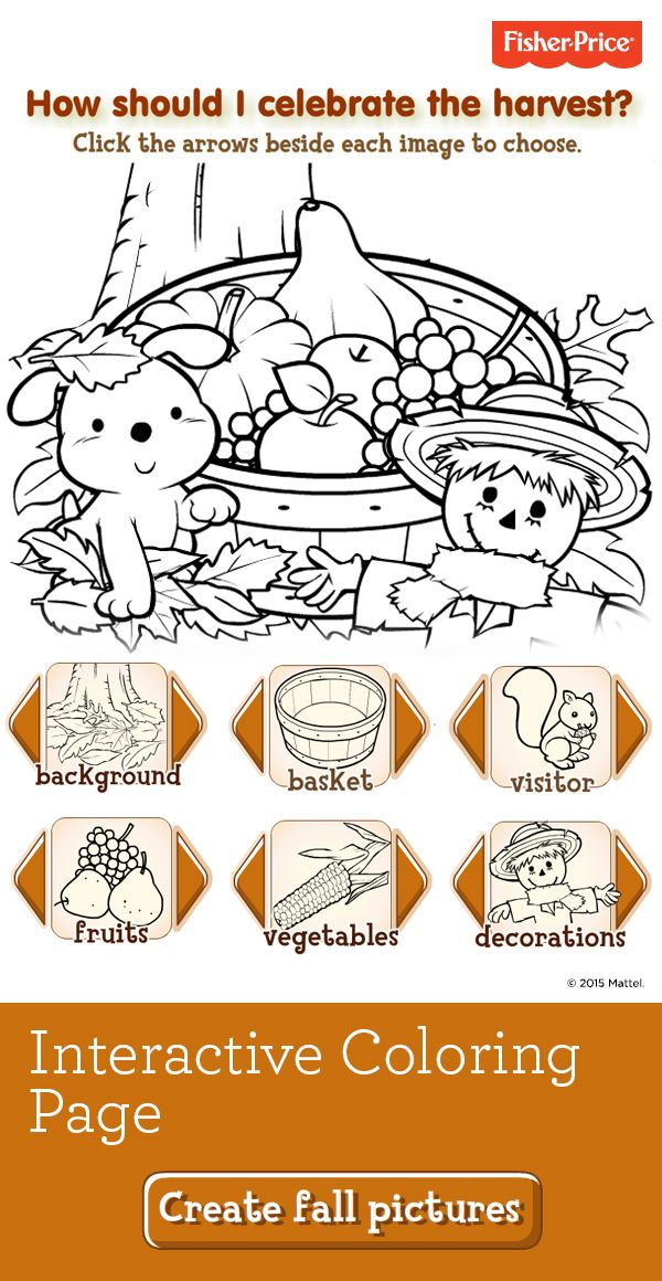 Browse Hundreds Of Printable Coloring Pages Like This Fun Fall Page That Will Keep Your Child