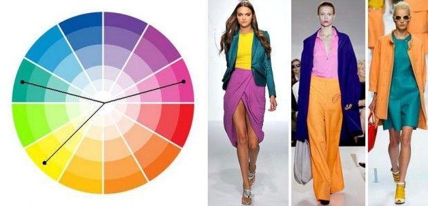 Цветовой круг: сочетание комбинированных комплиментарных цветов