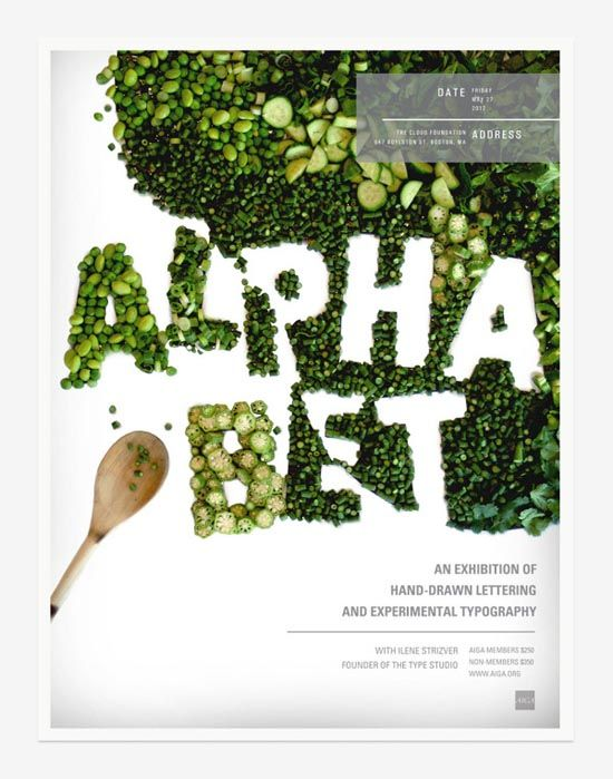 To Eat With Your Eyes: 40+ Delicious Food Typography Designs #typography #inspiration