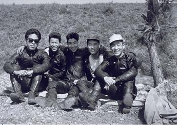 Fumio Ito, Hideo Ohishi, Taneharu Noguchi, Hiroshi Hasegawa and Yoshikazu Sunako in 1961