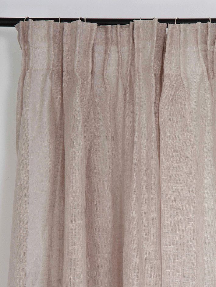 Sheer Linen Curtains Pencil Pleat Window Curtain Panels With