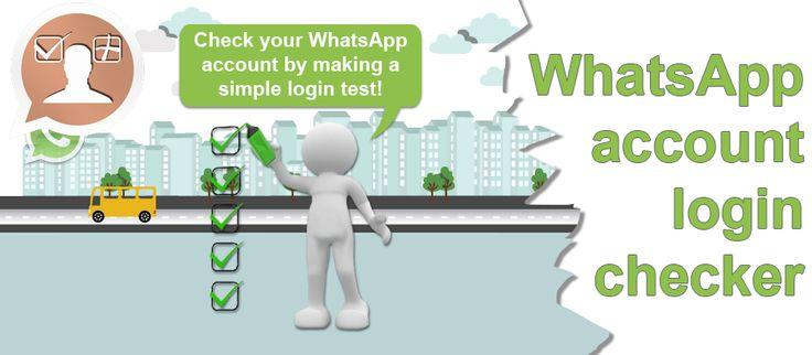 WhatsApp account login checker tool header image