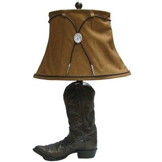 28 Brown Resin Table Top Boot Lamp