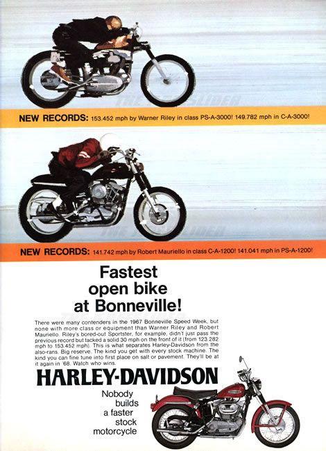 1967 Sportsters at Bonneville Advert