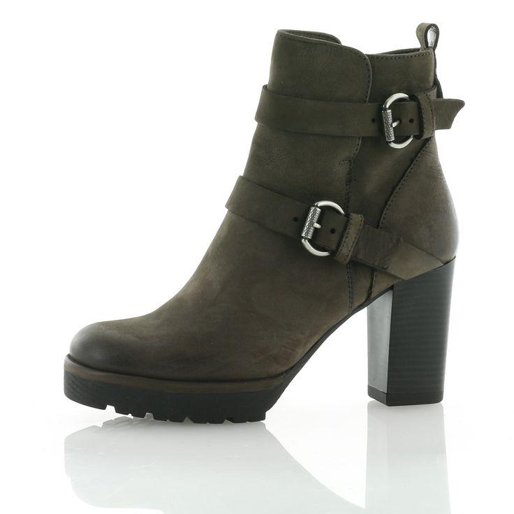 Orange Label Boots und Stiefeletten - Beige |  | Farbe: Beige | Absatzhöhe: 6 cm | Futter: Textil | Obermaterial: Nubukleder | Sohle: Gummi