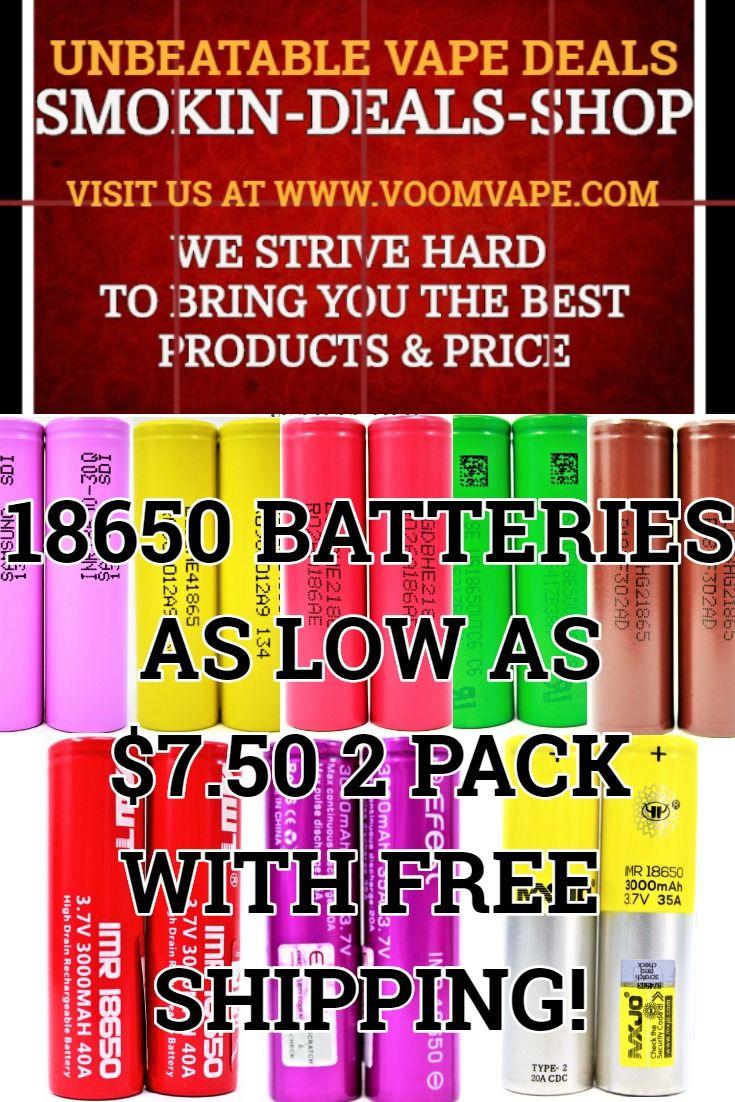 Best 18650 Battery For Vaping 2020 Pin by SMOKIN DEALS SHOP on UNBEATABLE VAPE DEALS in 2019