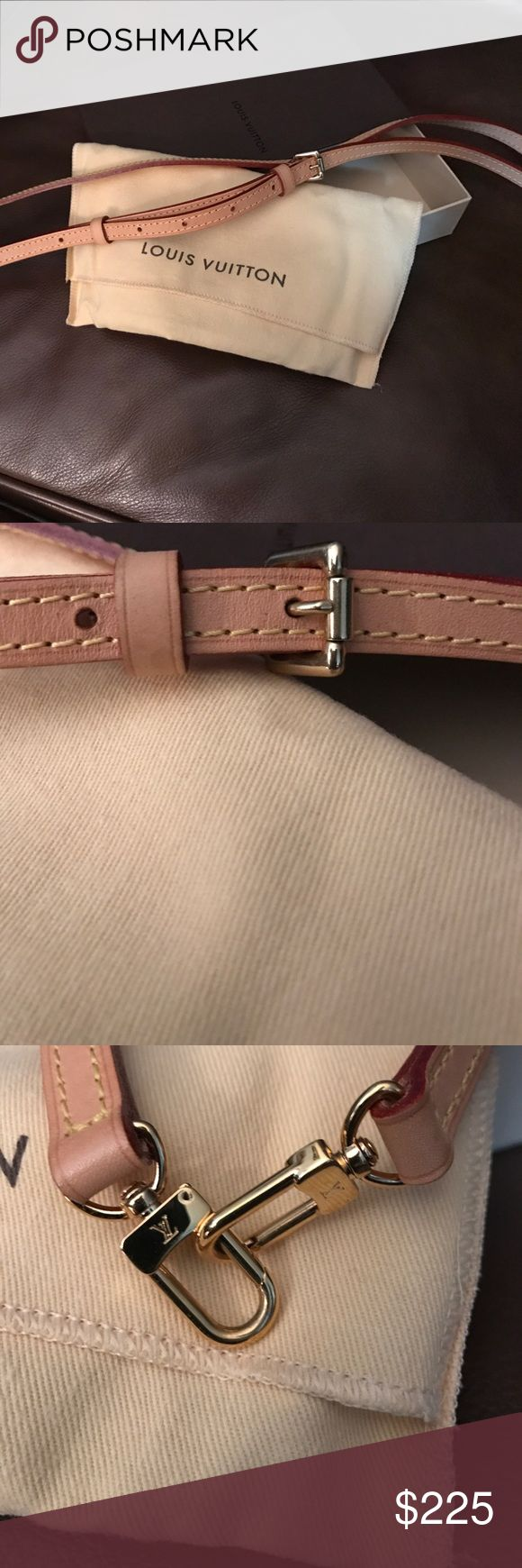 Louis Vuitton Waist Belt/Bag  Adjustable Brand New Brand new 💯 Authentic LV belt that can be used as a waist belt or a bag belt.   Comes in LV box and dust bag .    As you can see this belt has always been kept in its pouch and has not oxygenized yet anywhere.   Just purchased a few months ago in Toronto Canada and never got a chance to use it.    Has not belt markings to show you no use. Louis Vuitton Accessories Belts