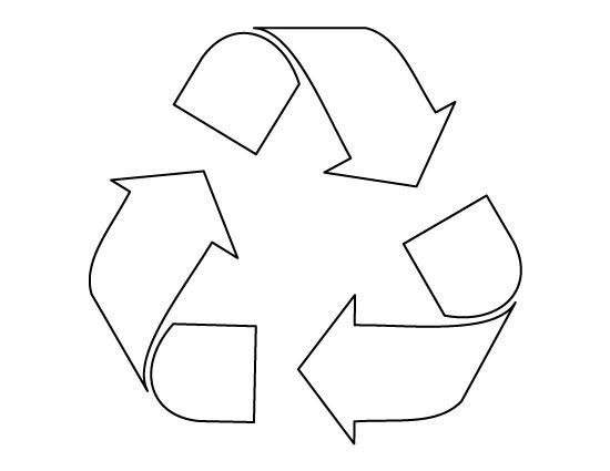 Recycle symbol pattern. Use the printable outline for crafts ...
