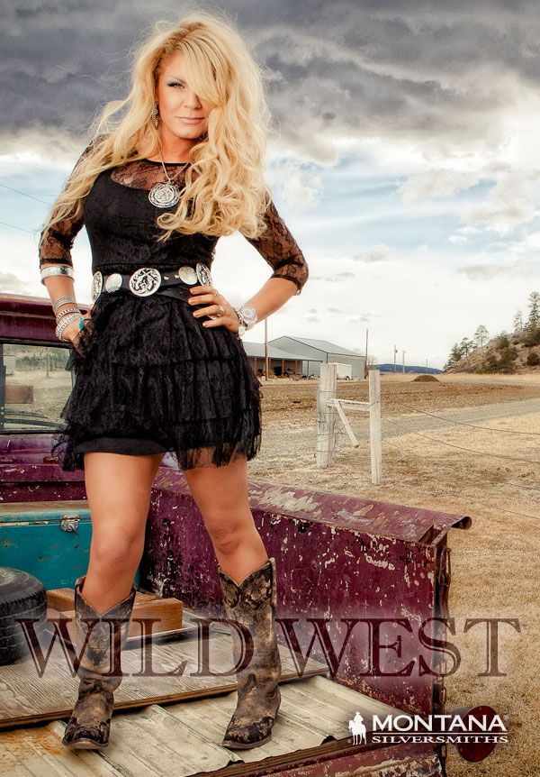 black lace dress & cowboy boots | [country girl style