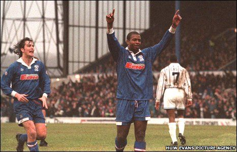 Cardiff City's Nathan Blake. Beating Man City in the 4th Round of the FA Cup in 1994.
