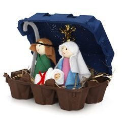 Recycling-Set Weihnachtskrippe