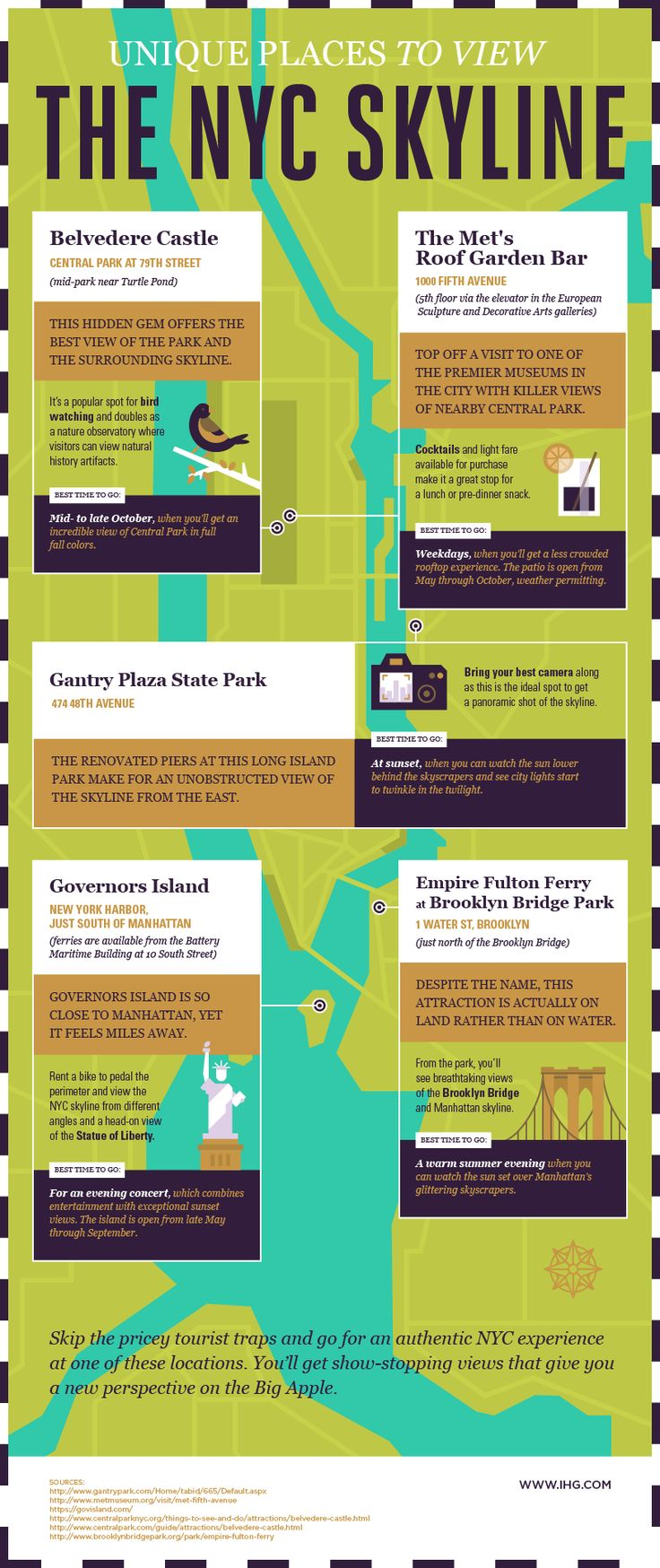 An interesting infographic with several recommendations for a perfect view of NYC's skyline!