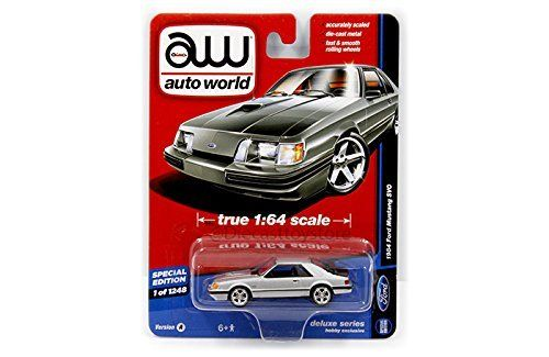 AUTO WORLD 1:64 DELUXE SERIES   1984 FORD MUSTANG SVO (HOBBY EXCLUSIVE) DIECAST TOY CAR AW64051 24A. #AUTO #WORLD #DELUXE #SERIES #FORD #MUSTANG #(HOBBY #EXCLUSIVE) #DIECAST