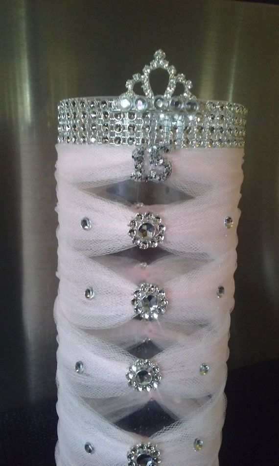 Check out this item in my Etsy shop https://www.etsy.com/listing/233858935/quinceanera-centerpiece-vase-in-light