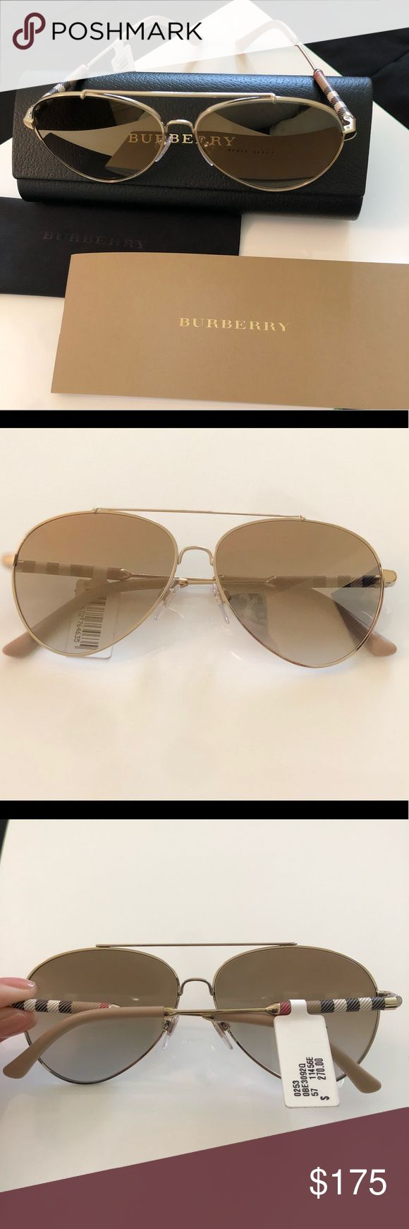 Burberry sunglasses Brand new with tags, burberry sunglasses original price $270 plus tax Burberry Accessories Sunglasses