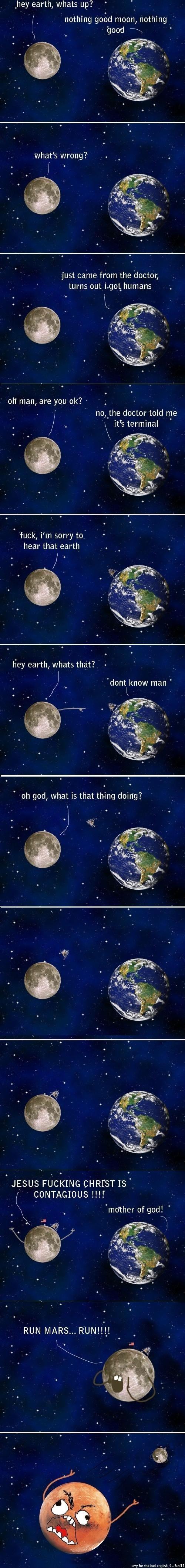 Hahahaha omg poor moon