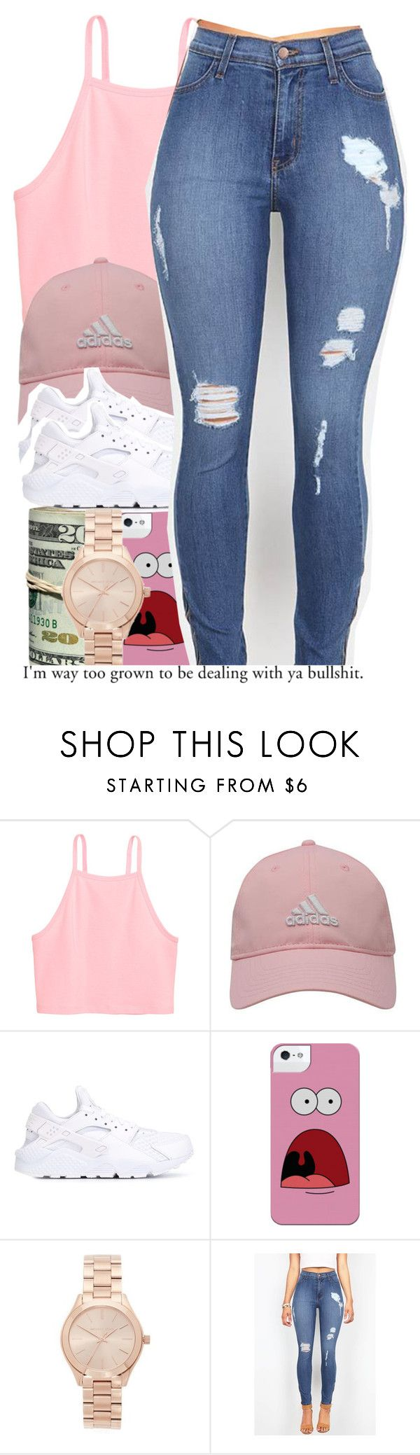"""""""For realz......"""" by alondrauribe ❤ liked on Polyvore featuring adidas Golf, NIKE and Michael Kors"""