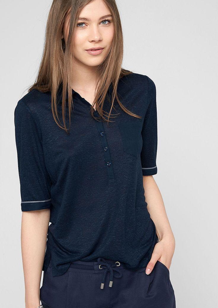 Poloshirt aus Leinenmix von s.Oliver. Entdecken Sie jetzt topaktuelle Mode für Damen, Herren und Kinder online und bestellen Sie versandkostenfrei.