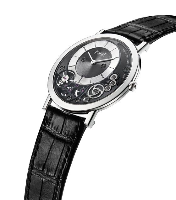 "#Piaget will be presenting what it claims to be the ""the thinnest mechanical watch ever,"" the Piaget Altiplano 900P, which has a total case thickness of 3.65 mm. The watch will sell for around $20,000."