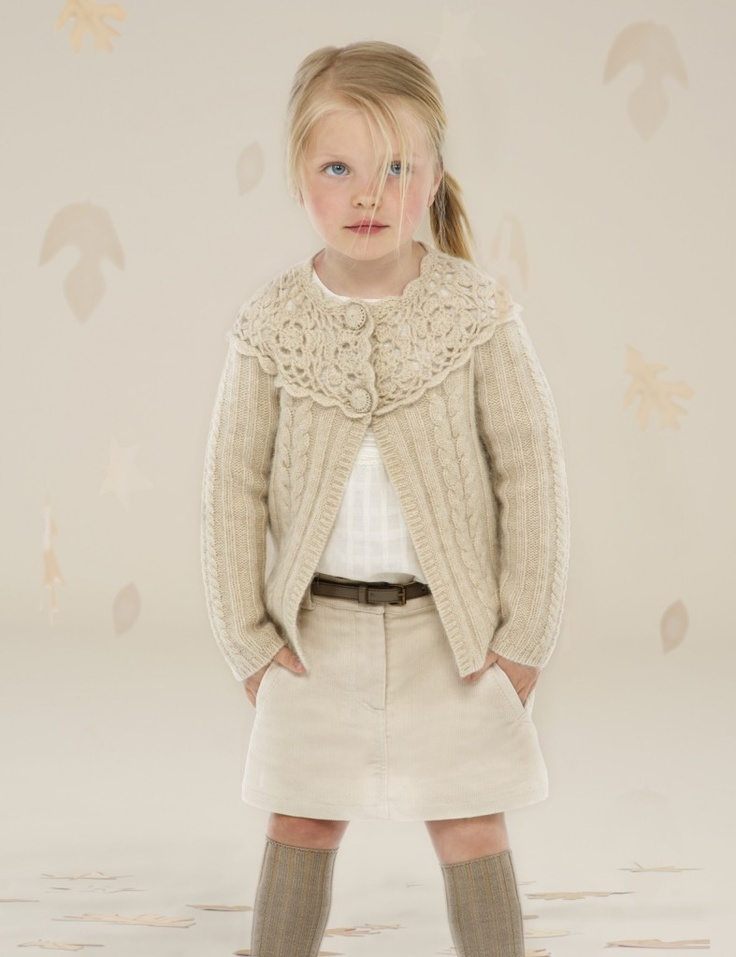 The outfit is adorable-- & doesn't this little girl look like Marlee?