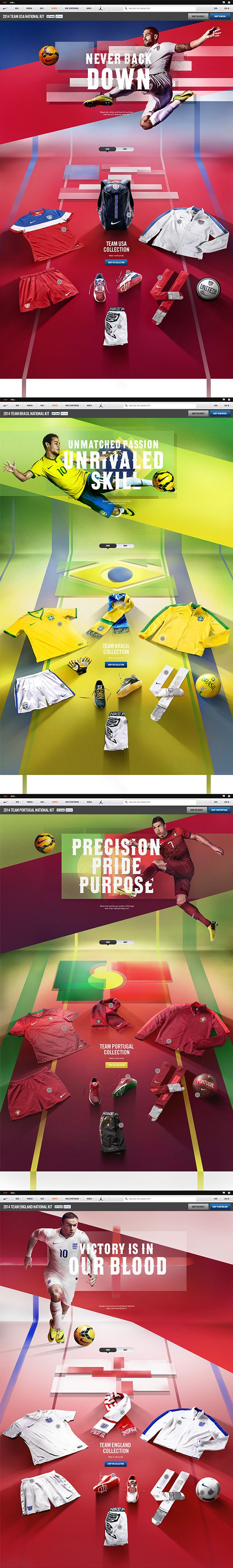 Nike National Team Kits 2014 on Web Design Served
