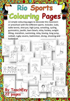 Rio Olympics Sports Colouring Pages
