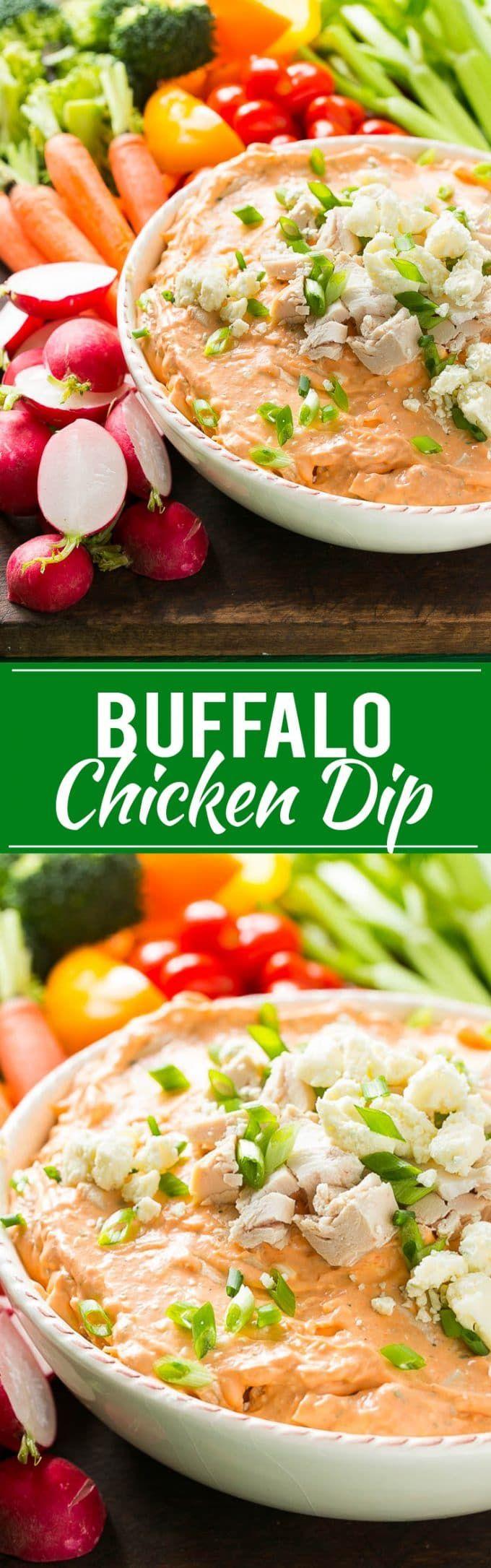 Buffalo Ranch Chicken Dip Recipe | Buffalo Ranch Chicken Dip | Best Buffalo Chicken Dip | Easy Buffalo Chicken Dip