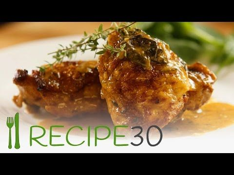 Lemon Butter Chicken Thighs – Easy Meals with Video Recipes by Chef Joel Mielle
