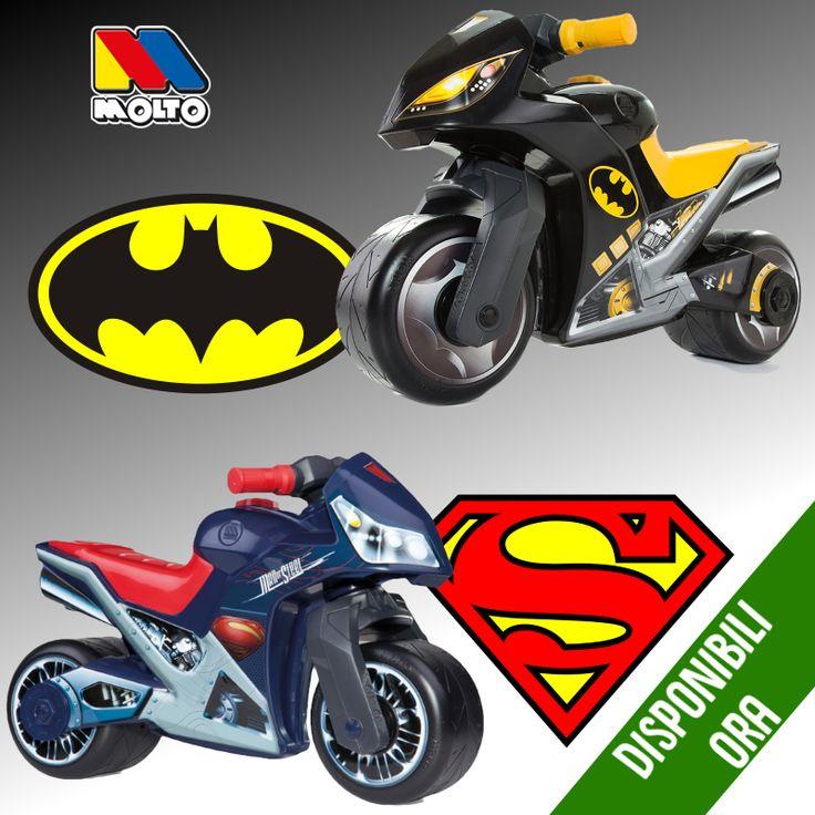 Muovi i primi passi da supereroe con i cavalcabili #Molto!!! Tutti con licenza originale!