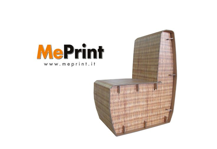 Sedia realizzata in cartone da MePrint - www.meprint.it