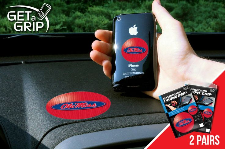 """University of Mississippi Get a Grip 2 Pack - Let your favorite team get a grip on your device! Never wonder where your phone is again. This new product innovation utilizes two polymer grips that adhere to each other leaving you hands free. UAV Resistant. No residue left behind. Now comes in a 2 Pack FANMATS Series: 2GETAGRIPTeam Series: University of Mississippi (Ole Miss) Product Dimensions: small 1.5"""" / large 3""""Shipping Dimensions: 8""""x6""""x1"""". Gifts > Licensed Gifts > Ncaa > All Colleges…"""