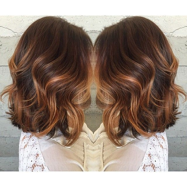 Some fancy color work... Balayaged rose gold highlights... By Butterfly Loft stylist Jacqui.