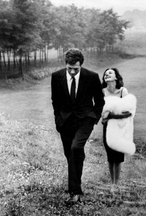 sinemasanati:  Jeanne Moreau and Marcello Mastroianni in La Notte