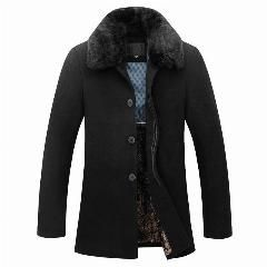 [ 21% OFF ] Removable Fur Wool Coat Men 2016 Brand New Design Jackets Men Casual Slim Fit Winter Warm Overcoat Mens Pea Coat Manteau Homme