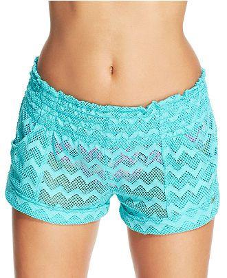 Roxy Crochet Shorts Cover Up - Junior Swimwear - Women - Macy s ... 305c0658fc