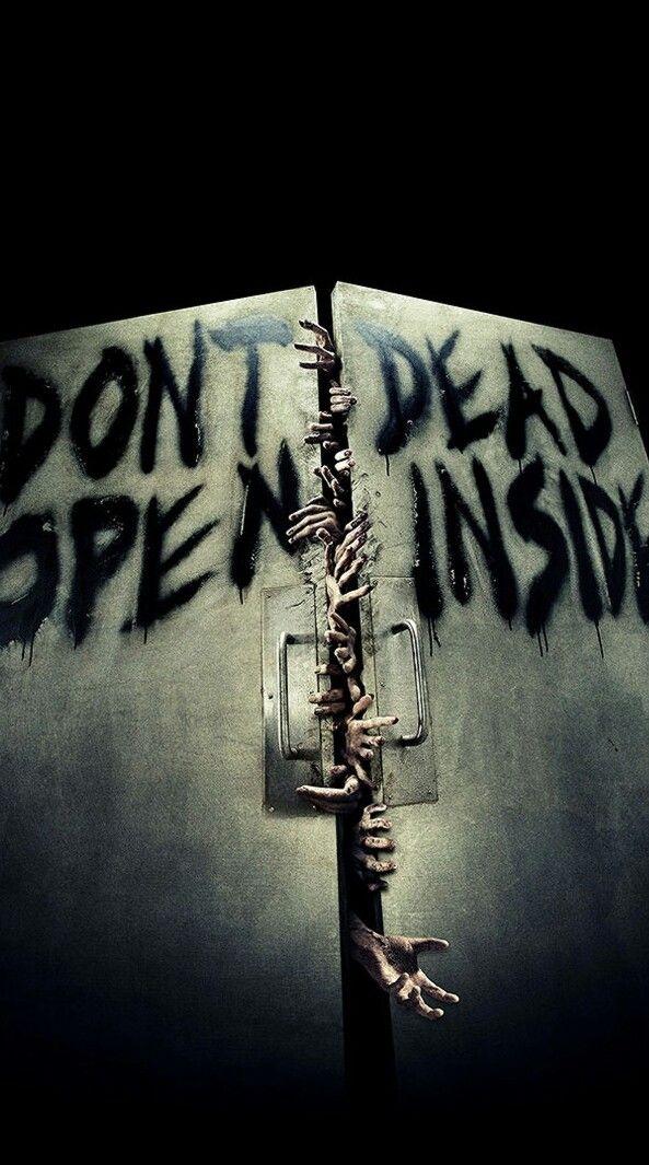 """DON/'T OPEN! HALLOWEEN 5.5/"""" X 5.5/"""" Sticker ZOMBIE DEAD INSIDE"""