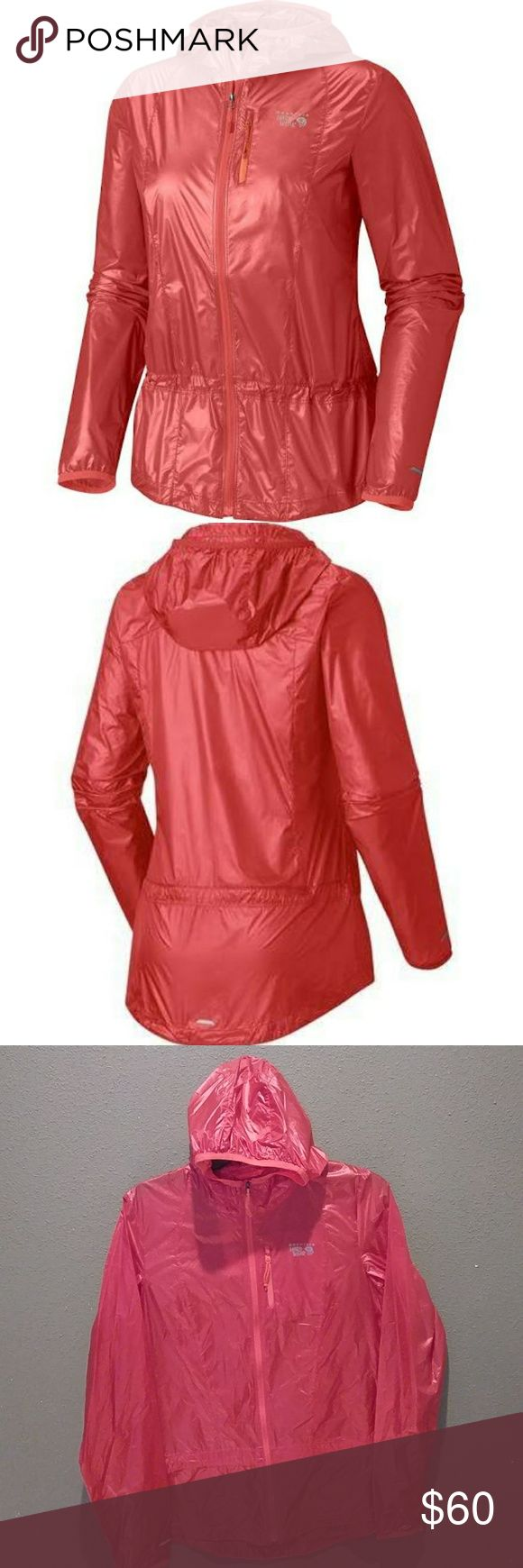 🌼Mountain Hardwear Ghost Lite Jacket🌼 Weather-resistant running and cross-training shell that weighs only 3 oz. A hooded jacket simply can't get any lighter. Weighing in at a mind-bending 3 oz., the Ghost Lite is so featherweight and airy that training in it is a pleasure, even in adverse conditions. Able to compress down into its own pocket to wait until the weather turns, this jacket is an athlete's dream. Mountain Hardwear Jackets & Coats