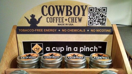 Cowboy Coffee Chew Smokeless Chewing Tobacco Free Dip
