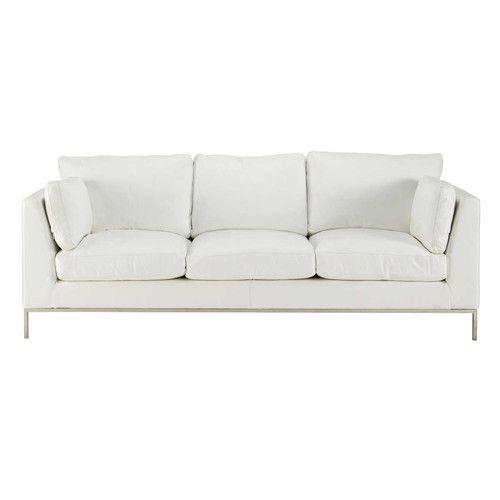 3 sitzersofa nicht ausziehbar leder wei 1399 sofa sessel pinterest salons. Black Bedroom Furniture Sets. Home Design Ideas