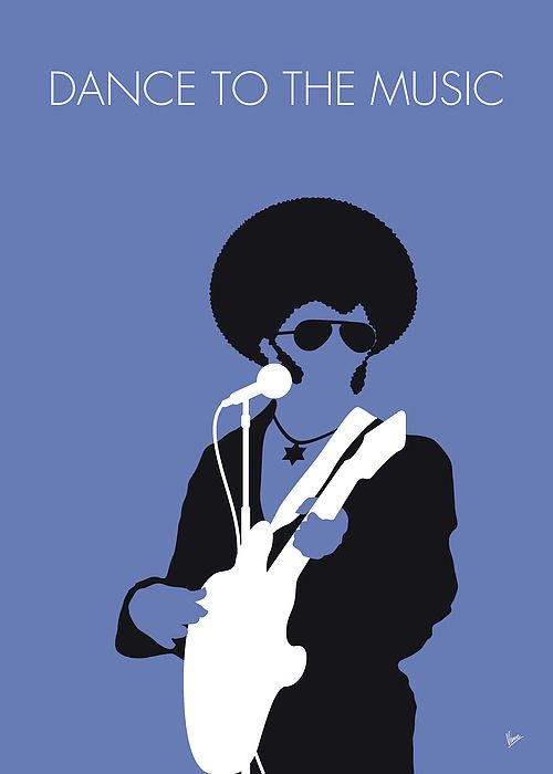 """No088 MY Sly and the Family Stone Minimal Music poster by Chungkong.nl  """"Dance to the Music"""" is a 1968 hit single by the soul/funk band Sly and the Family Stone.  TAGS: Sly, and, the, Family, Stone, Dance, to, Music, soul, funk, band, psychedelic, funk,   minimal, minimalism, minimalist, poster, artwork, alternative, graphic, design, idea, chungkong, simple, cult, fan, art, print, retro, icon, style, gift, room, time, best, quote, song, music, inspiration, rock, guitar, star, artist,"""