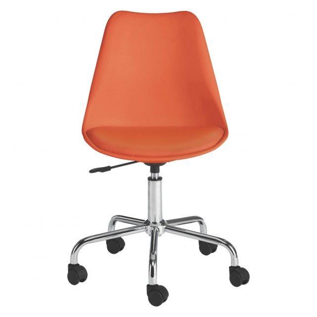 GINNIE Orange office chair   Buy now at Habitat UK