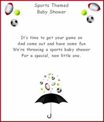 Baby Shower Sports Poems