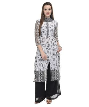 Georgette Kurta with Palazzo Pants | I found an amazing deal at fashionandyou.com and I bet you'll love it too. Check it out!