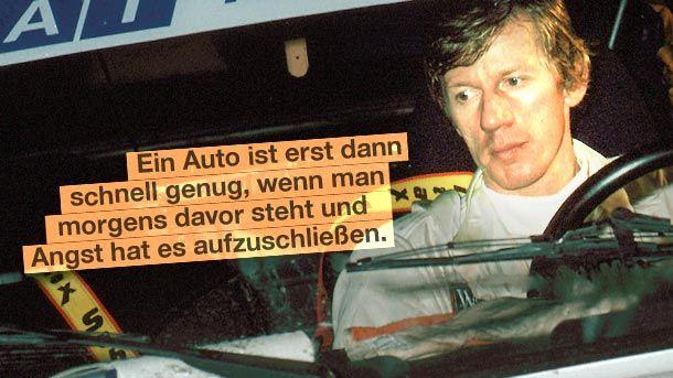 Der Walter. Ralleyfahrer Walter Röhrl auf einer Aufnahme aus dem Jahr 1980. (Quelle: dpa)