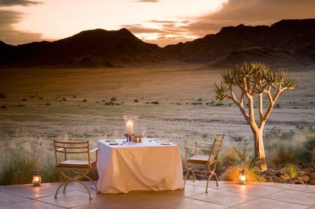 Sossusvlei Desert Lodge  http://www.africanwelcome.com/namibia/sossusvlei/sossusvlei-desert-lodge