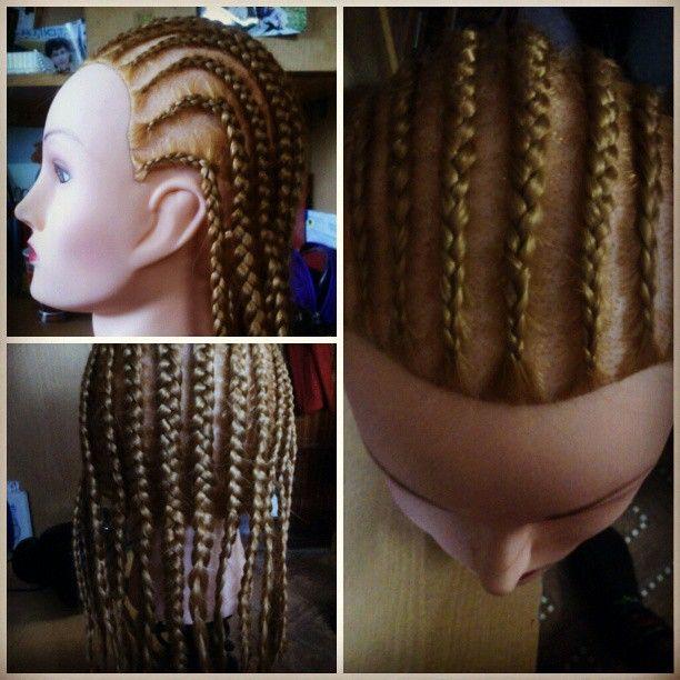 Мой первые африканские косички:-Dвсе оказалось не так просто:-)как вам? #парикмахерirochkalex #irochkalex #прически #косы #африканскиекосички #блондинка #манекен #haare #hair #