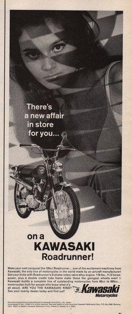 1967 Kawasaki Motorcycle print ad the 120 cc by Vividiom on Etsy, $8.00