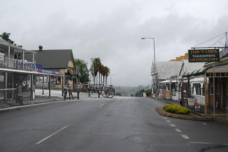 King Street Scottsdale Tasmania c 1900 and now